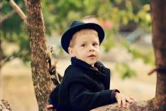 Autumn portrait of the boy Royalty Free Stock Photos