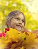 Autumn portrait Stock Photos