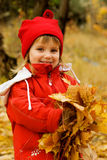 Autumn portrait of cute little girl Royalty Free Stock Images