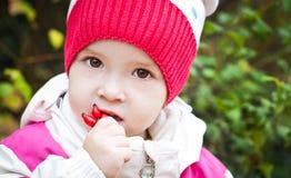 Autumn portrait of cute little girl Stock Photo