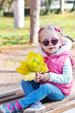 Autumn portrait of cute little girl Stock Image