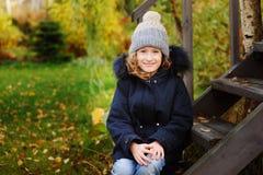 autumn portrait of happy kid girl Royalty Free Stock Photography