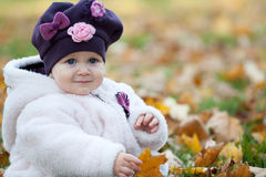 Autumn portrait of a little girl Royalty Free Stock Photo
