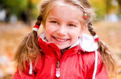 Autumn portrait of a  little girl Royalty Free Stock Photography