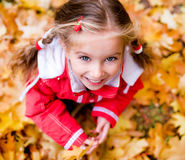 Autumn portrait of a  little girl Stock Image