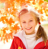 Autumn portrait of a  little girl Royalty Free Stock Photos