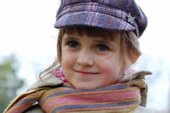 Autumn portrait- little girl Stock Images