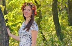 Autumn portrait o young woman Royalty Free Stock Photos