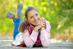 Autumn portrait o young woman Royalty Free Stock Photo