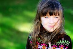 Autumn portrait of pretty little girl Royalty Free Stock Photography
