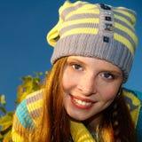 Autumn portrait of redheaded  girl Royalty Free Stock Photos