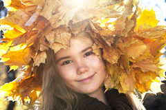 Autumn Portrait in sunlight Royalty Free Stock Images