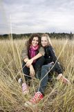 Autumn portrait of two young women Royalty Free Stock Photos