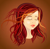 Autumn portrait vector royalty free stock photos