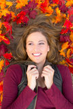 Autumn portrait woman Royalty Free Stock Image