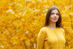 Autumn portrait of woman Royalty Free Stock Photos