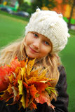 Autumn portrait of young girl Stock Image