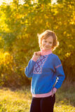 Autumn portrait of the young girl Royalty Free Stock Photos