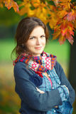Autumn portrait of young stylish woman Stock Image