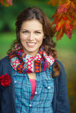Autumn portrait of young stylish woman Royalty Free Stock Photo