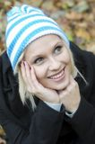 Autumn portrait of young woman Stock Images