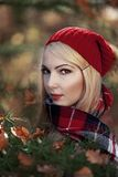 Autumn portrait of a young woman. Royalty Free Stock Photography
