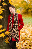 Autumn portret of beautiful girl Royalty Free Stock Photo