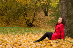 Autumn portret of beautiful girl Royalty Free Stock Images