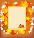 Autumn , postcard . Stock Photo