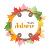 Autumn poster concept for design royalty free illustration