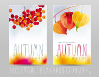 Autumn posters. Two posters for autumn events and sales Royalty Free Stock Photography