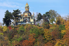Autumn Prague above river Vltava, Czech Republic Royalty Free Stock Photography
