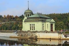 Autumn Prague hydroelectric Plant, Czech Republic Royalty Free Stock Images
