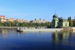 Autumn Prague hydroelectric Plant, Czech Republic Stock Images