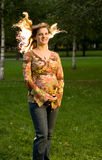 Autumn pregnancy Stock Photo