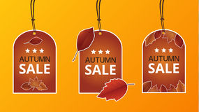 Autumn price labels Stock Photos