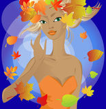 Autumn princess Royalty Free Stock Images