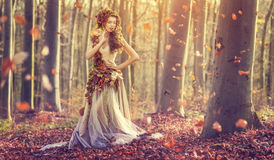 Autumn Princess Stock Photos