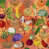Autumn Products Pattern Royalty Free Stock Image