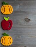 Autumn pumpkin and apple Stock Photo
