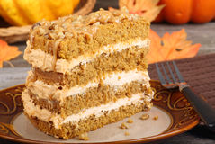 Autumn Pumpkin Cake Stock Photography