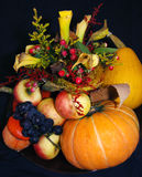 Autumn pumpkin composition Royalty Free Stock Photography