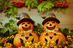 Autumn pumpkin decoration Royalty Free Stock Images