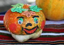 Autumn pumpkin decoration Stock Photography