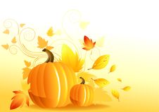 Autumn Pumpkin Elements Royalty Free Stock Images