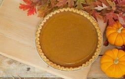 Autumn Pumpkin Pie Stock Images