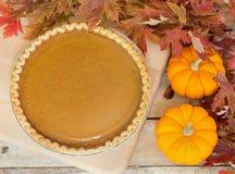 Autumn Pumpkin Pie Stock Photography