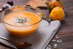 Autumn pumpkin soup Royalty Free Stock Photos