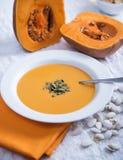 Autumn pumpkin soup Royalty Free Stock Photography
