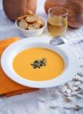 Autumn pumpkin soup Royalty Free Stock Image